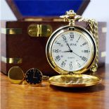Pocket Watch & Wedding Time Cufflinks Set, Personalised ref PWCC